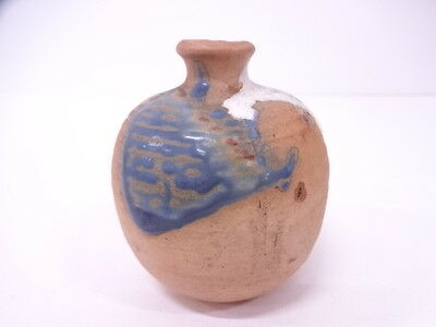 Beautiful Japanese Ceramics / Hanaike (Flower Vase)  / Glaze Painting Earth Tone