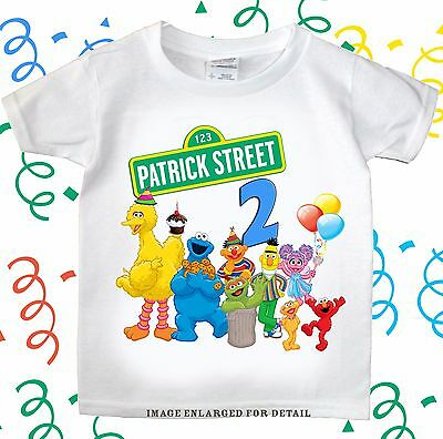 Sesame Street birthday Custom T-Shirt Present Gift Personalized Tee Party Favor