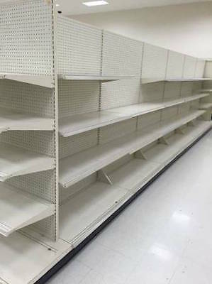 Used Supermarket Gondola Shelving Beige Aisle Section