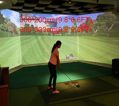 10''x6.7'' Indoor Golf Ball Simulator Impact Display Projection Screen