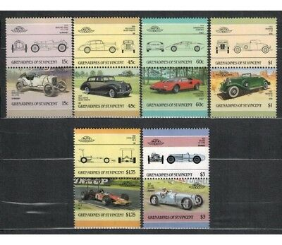 GRENADINES OF ST. VINCENT 1986 Automobili - Cars 6x2v MNH**