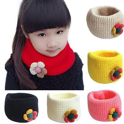 Newborn Baby Kids Girls O-ring Scarf Winter Neckerchief Woolen Knit Warmer Shawl