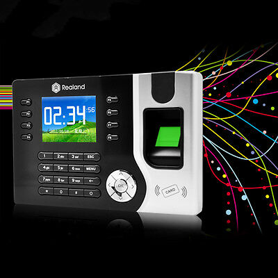 2016 New Biometric Fingerprint Attendance Time Clock+ID Card Reader+TCP/IP+USB B