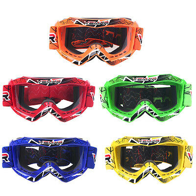 Kids Youth Goggles MX ATV Motocross Off Road Racing Riding  Glasses Age 6 to 15