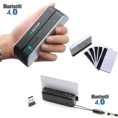 Bluetooth MSR Bundle Skimmer Wireless Portable Credit Card Reader Writer Encoder