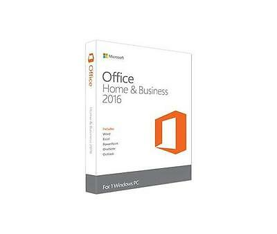 T5D-02393 Microsoft Office home and Business 2016 win Italian Eurozone Medialess