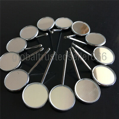 50 Pcs Dental Orthodontic Stainless Steel Mouth Mirror Mirrors # Odontoscope