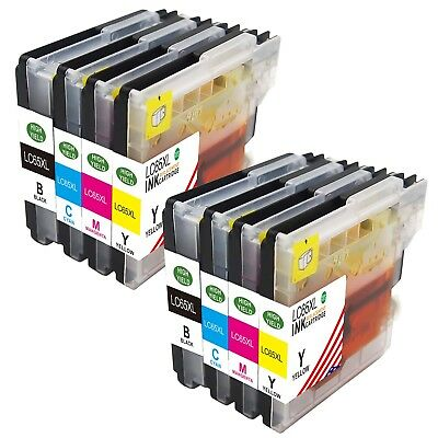 8 Pack NEW LC61 Ink Cartridges for brother MFC 495CW J615W 490CN 385CW printer