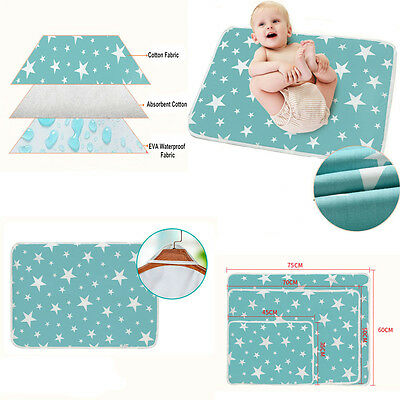 diaper changing pad baby infant waterproof mat cover urine bedding nappy cotton