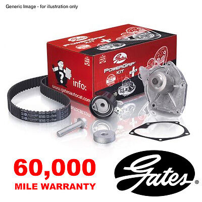 Gates Timing Cam Belt Water Pump Kit For Peugeot 1007 106 206 207 307 Partner
