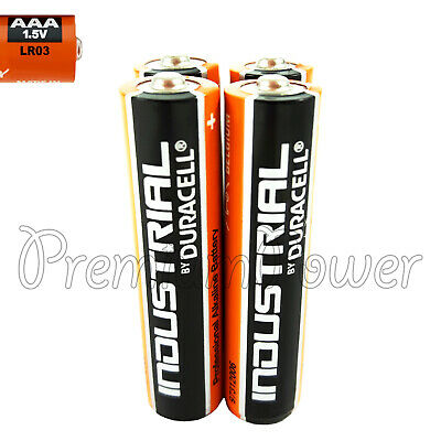 4 x Duracell AAA batteries Industrial Procell Alkaline LR03 MN2400 1.5V EXP 2022