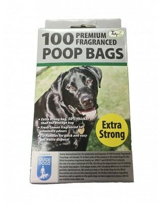 100 200 600 800 1000 - PREMIUM FRAGRANCED EXTRA STRONG BLACK Doggy Poo Poop Bags