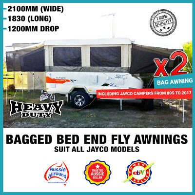 Bagged Bed Fly Over Privacy Screen Awnings Covers Campers Caravan Pop Top