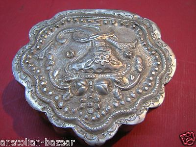 Ottoman Turkish Solid Silver Snuff Box