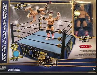 WWE Mattel Target Exclusive Hall Of Fame WCW Ring Set W/ Elite Dusty Rhodes OVP