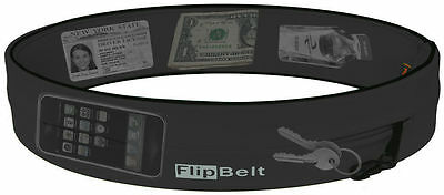 FlipBelt BLACK Running Belt & Fitness Workout Belt New Black