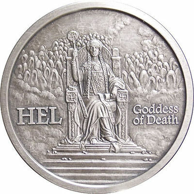 Norse Gods Series Hel - Valkyrie 5 oz .999 Silver Antiqued Finish Round US Coin