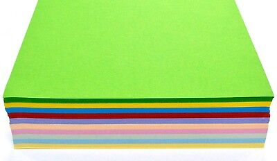 50 Sheets Pack Coloured Craft Card stock  A4 size 160 gsm