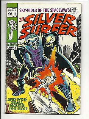 SILVER SURFER # 5 (68pg GIANT, APR 1969), VG