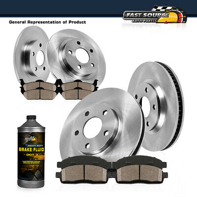 Front+Rear Brake Rotors +Ceramic Pads For 2012 2013 2014 - 2017 Toyota Camry