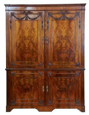 19Th Century Dutch Mahogany Press Cupboard