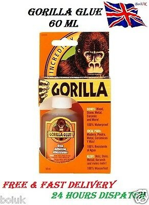 Gorilla Glue 60ml Multi Purpose Waterproof Adhesive Tough Strong Metal Glass New
