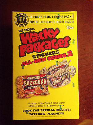 2005 Topps Wacky Packages ANS2 Series 2 Bonus Box with 11 Packs and Bonus Card