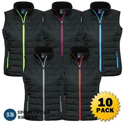 10 x Ladies Stealth Vest Quilted Lightweight Contrast Work Casual Sports J616L