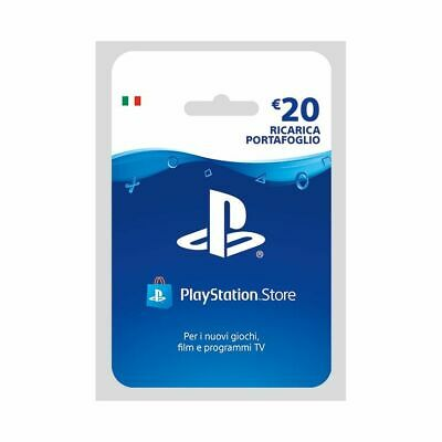 Sony PSN Hanging Card Ricarica 20 Euro PS4 Playstation 4