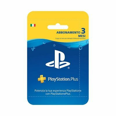 Sony PSN PS Plus Hanging Card Abbonamento 3 Mesi PS4 Playstation 4