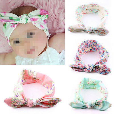 UK 4X Kids Baby Girl Toddler Bowknot Headband Hair Band Headwear Accessories