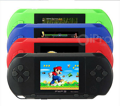 """16 8Bit 2.7"""" Handheld Slim Game Console For Kids Gift + 150 Games Card PVP PXP3"""