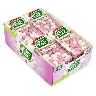 Set of 18 Limited Edition TIC TAC STRAWBERRY CANDY FREE SHIPPING