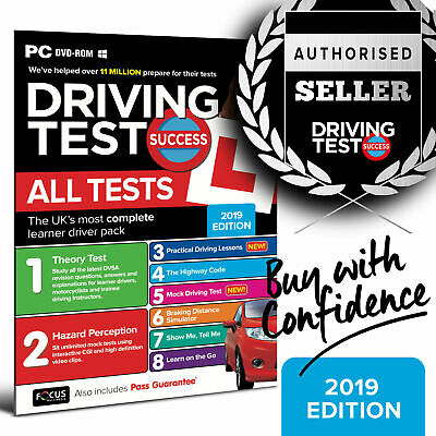 2019 Driving Theory Test Car & Hazard Perception PC DVD-ROM.  wt.