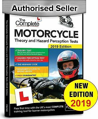 Motorcycle / Motorbike 2019 Theory & Hazard Perception Tests PC DVD-Rom. NEW