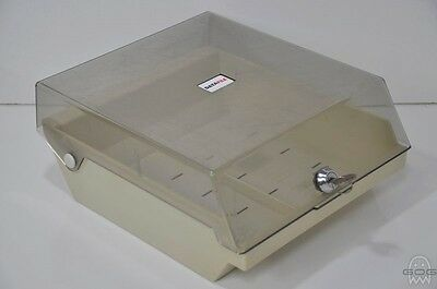 "DATAFILE - 3.5"" FLOPPY DISKETTE STORAGE CASE HOLDER BOX Incl. a KEY"