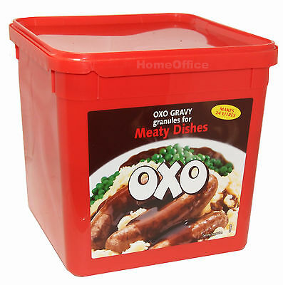 Large 1.58Kg Tub Of Oxo Granules Ideal Gravy Stock For All Meat Dishes Etc New