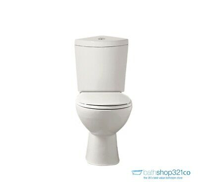 Corner Close Coupled Toilet WC Cistern Pan Soft Close Seat Bathroom Cloakroom