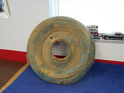 """VINTAGE 1930's FORD ? CHEVY DODGE RAT-ROD SPARE TIRE WHEEL COVER 29-1/4"""" OD  816"""