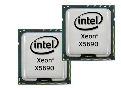2x Intel Xeon X5690 Six Core CPU 6x3.46GHz-12MB 6.40GT/s FCLGA1366, SLBVX