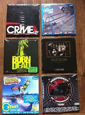 Lot Of 6 Skateboard Videos. ALL NEW/SEALED Dvd Movies & Samples FREE SHIPPING!