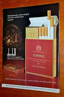 1977 Dunhill Cigarettes Canadian Ad - The Most Distinguished Tobacco - Retro 70S