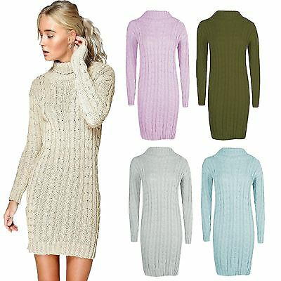 New Dress Jumper Ladies Womens Sweater Sweatshirt Knitted Sweater Top 8-14