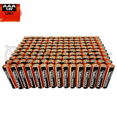 150 Duracell AAA batteries Alkaline Industrial Procell LR03 MN2400 1.5V EXP:2022