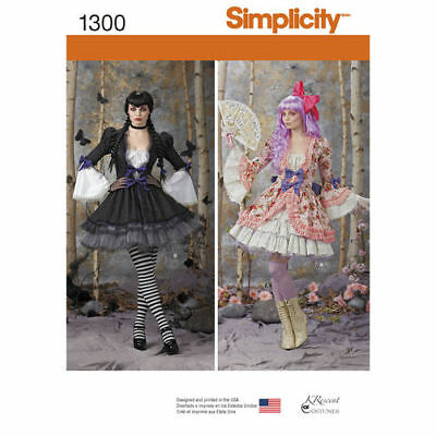SIMPLICITY 1300 R5 Misses' Costume Overdress and Skirt Sewing Template
