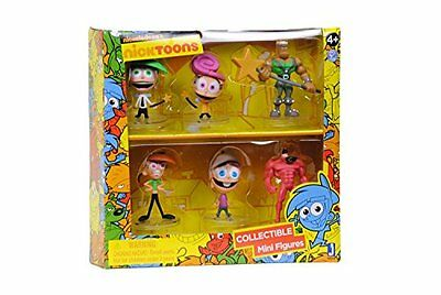 """Nicktoons Fairly Odd Parents Deluxe Collector Toys 6-Pack, 2"""""""