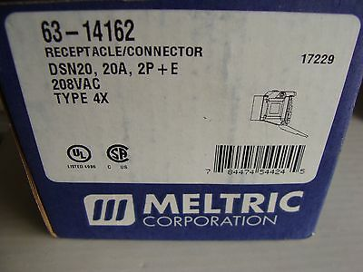 New MELTRIC Receptacle / Connector 63-14162  20 Amp 208vac Type 4X
