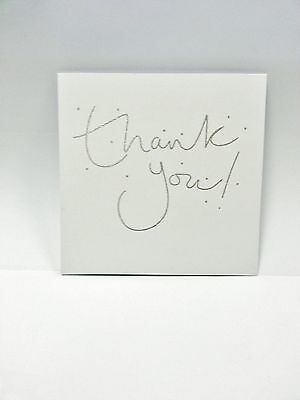 Pack of 8 Glitter Finished Thank You Cards Christmas Wedding Party New