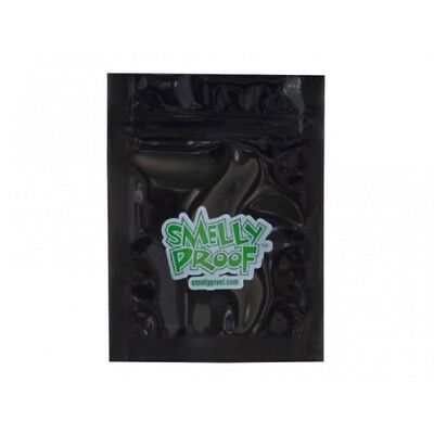 Black Smell Proof Safe Food Bags Baggies Air Tight Pouch Smelly Zip Resealable