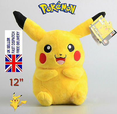 "Japanese Anime POKEMON Pikachu 12"" 30cm Soft Plush Toy Doll Teddy Kids Gift"